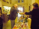 Dave K having a go at the Tombola