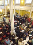 Looking towards the tenors and basses from the gallery
