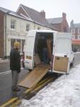The piano in the van