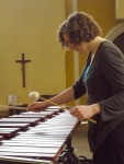 Caz warming up the Marimba
