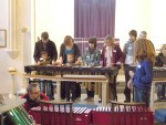 Learning a tune on Marimba