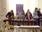 Even the very young enjoyed playing the Marimba