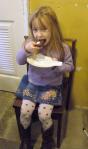 Enjoying her cake