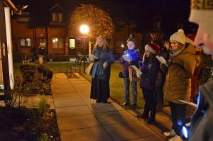 Singing Carols at Fegan's Court