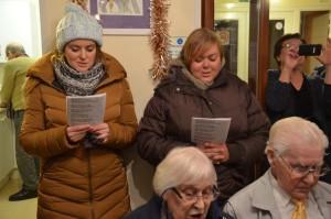 Singing indoors at Fegan's Court