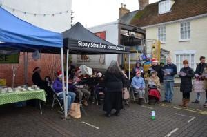 SMSG band under shelter at Market Square